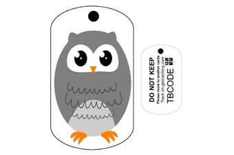 Oliver the Owl (Travel Bug) For Geocaching - Trackable Tag - Owl Trackable Tag