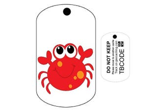 Claus the Crab (Travel Bug) For Geocaching - Trackable Tag - Unactivated