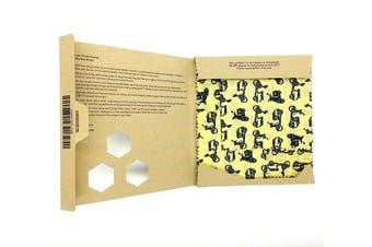 (Vespa) - Beeswax Wrap | Set of 3: Small, Medium and Large | Vespa | Reusable, Eco Friendly, Zero Waste Food Wrap