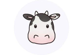 Azeeda 24 x 40mm Round 'Cow Head' Stickers (SK00016671)