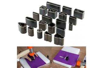(39 Shape Hole Punch) - DIY Leather Shape Punch Set 39 Pcs Various Leather Craft Hole Hollow Cutter Tool