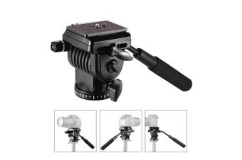 (Camera Tripod Mount) - STSEETOP Camera Tripod Action Fluid Drag Pan Head,360 Degree Rotation for Tripod Compatible with Canon Nikon Sony DSLR Camera Camcorder Shooting Filming