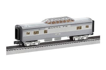 Lionel 684725 Santa Fe Add-On Vista Dome Car, O Gauge, Silver, Grey, Tan, Black