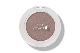 (Quartz) - 100% PURE Pressed Powder Eye Shadow (Fruit Pigmented), Quartz, Shimmer Eyeshadow, Buildable Pigment, Easy to Apply, Natural Makeup (Copper Brown Mauve) - 0ml