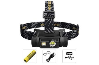 Nitecore® HC65 LED Head Torch USB Rechargeable 18650 Battery Included IPX8 Waterproof Triple Output CREE XML2-U2 1000LM Illumination Tool EDC Headlamp Full Metal Body 2018 Upgrade from HC60 Headtorch