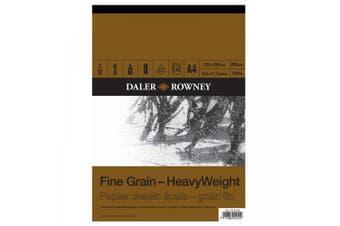 Daler - Rowney A4 Heavyweight Cartridge Pad- Fine Grain