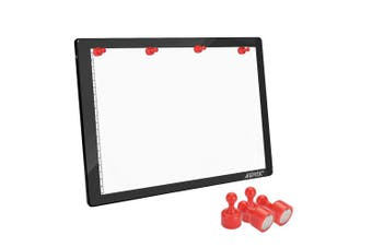 (Physical Buttons Control) - AGPTEK Magnetic Tracing A4 LED Light Box Drawing Pad Dimmable Brightness, Physical Buttons Control, USB Power Cable for Animation, Designing, Stencilling X-ray Viewing/Sketching Diamond Painting
