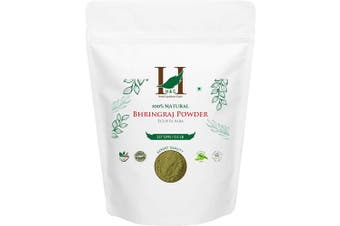 H & C- 100% Natural Bhringraj Powder for Hair (227g / 0.5 LB/ 240ml) - Hair Growth Rejuvenator from Indian Ayurveda