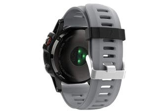 (Grey) - ZSZCXD Band for Garmin Fenix 3 / Fenix 3 HR/Fenix 5X, Soft Silicone Wristband Replacement Watch Band for Garmin Fenix 3 / Fenix 3 HR/Fenix 5X Smart Watch