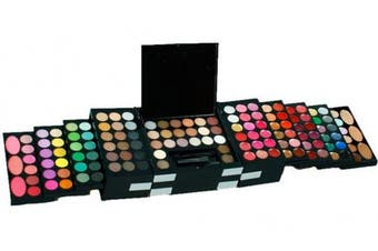 (#1) - RoseFlower Pro 148 Colours Shimmer and Matte Eyeshadow All In One Makeup Kit Cosmetic Contouring Palette (With Blusher and Eyebrow Powder)