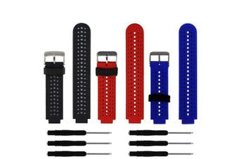 (3Pcs,001) - ZSZCXD Soft Silicone Replacement Watch Band for Garmin Forerunner 230/235/220/620/630/735 Smart Watch