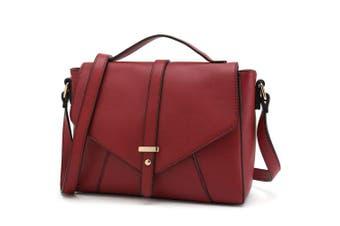 (Red) - Medium Sized Crossbody Purse for Women Designer Shoulder Bags Ladies Handbags
