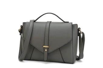(Grey) - Medium Sized Crossbody Purse for Women Designer Shoulder Bags Ladies Handbags