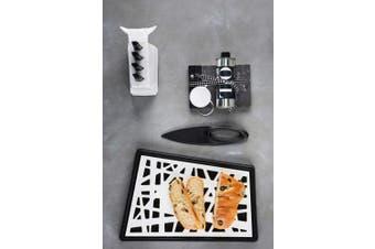 (White/Black) - koziol KANT Bread Cutting Board (Chopping Board), white/black