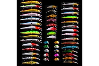 (480-48pcs) - Bass Fishing Lures Kit Set Topwater Hard Baits Minnow Crankbait Pencil VIB Swimbait for Bass Pike Fit Saltwater and Freshwater