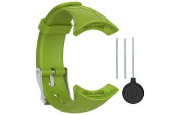 (Width 16mm, Female-Lime) - QGHXO Suunto M-Series Strap, Replacement Soft WristBand with Metal Buckle for Suunto M1/Suunto M2/Suunto M4/Suunto M5/M-Series Smart Watch
