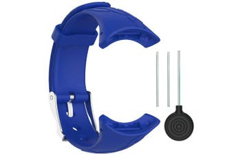 (Width 16mm, Female-Blue) - QGHXO Suunto M-Series Strap, Replacement Soft WristBand with Metal Buckle for Suunto M1/Suunto M2/Suunto M4/Suunto M5/M-Series Smart Watch