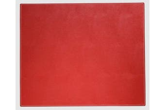 (Red) - Dacasso Colours Faux Leather 43cm x 36cm Table Mat - Laptop Mat - Protective Mat, Rossa Red