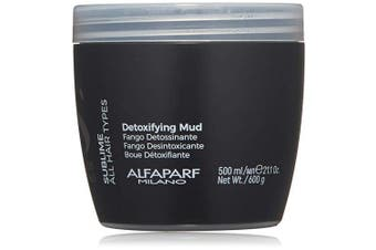 Alfaparf Milano Semi Di Lino Sublime Detoxifying Deep Cleansing Mud Treatment - Safe on Colour Treated Hair - Clay-Based Detox for Hair - Professional Salon Quality - 620ml