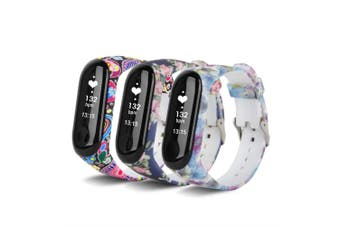 (3pc02) - VAN-LUCKY Mi Band3 13CM-20CM Colourful Replacement for Xiaomi Mi Band 3 Strap Bracelet Replacement,Colourful Waterproof Soft Silicone Bracelet for Xiaomi Mi Band 3(No Tracker)