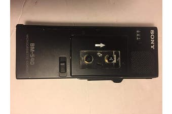 Rare- Sony BM-540 Portable Microcassette Recorder Handheld Dictaphone