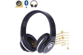 (Black) - Bluetooth Headphones Speaker 2 in 1 Anmyox Wireless Stereo Headsets Over Ear Earphone Support HiFi Deep Bass Mic FM Radio TF card Bluetooth Device,Black