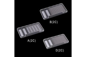 (D (2C), Gray) - Riverruns Super Slim Fly Box100% Waterproof Fishing Hook Box Easy Grip Foam Multi Magnetic Compartments