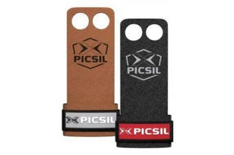 (Size Small S, Black) - PICSIL RAVEN Grips 2H - Hand Grips and Gymnastics Grips for Cross Training, muscleups, pullups, Weight Lifting, Chin ups, Training