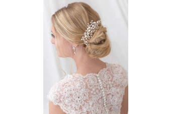 Simsly Wedding Hair Comb Slides Rhinestones Bridal Hair Accessories Headpiece Party for Brides and Bridesmaids (Silver)