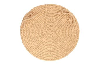Solid Wool Chair Pad, Wheat
