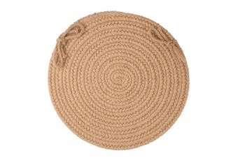 Solid Wool Chair Pad, Taupe