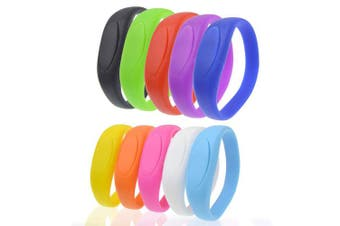 (32GB-10 PCS, Multicolor) - Pendrive 32GB Pack of 10 USB 2.0 Bracelet Flash Memory Kepmen Silicon Wristband Bulk Thumb Drives Festival Gift, Colourful