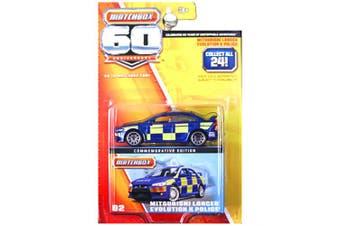 Matchbox 60th Anniversary Superfast Mitsubishi Lancer Evolution EVO X Police Blue