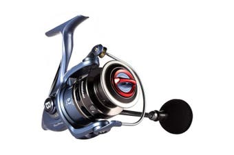(BlueMagic 5000) - Bassdash BlueMagic Spinning Fishing Reel, Aluminium Body & Carbon Rotor, with Carbon Fibre Drag & Corrosion Resistant Bearings, in Sizes 2000, 3000, 4000, 5000, for Saltwater or Freshwater