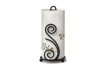 (Deco Paper Towel Holder) - Spectrum Diversified Scroll DECO Paper Towel Holder, black