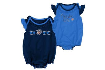(Oklahoma City Thunder, 6-9 Months, Dark Navy) - NBA by Outerstuff NBA Newborn & Infant Homecoming 2pc Bodysuit Set