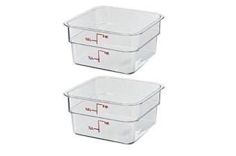 (2, 1.9l) - Cambro 2SFSCW135 CamSquare Food Storage Containers, Set of 2 (1.9l, Polycarbonate, NSF)