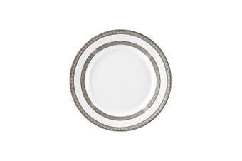 10 Strawberry Street Sophia 20cm Salad/Dessert Plate, Set of 6, White/Silver