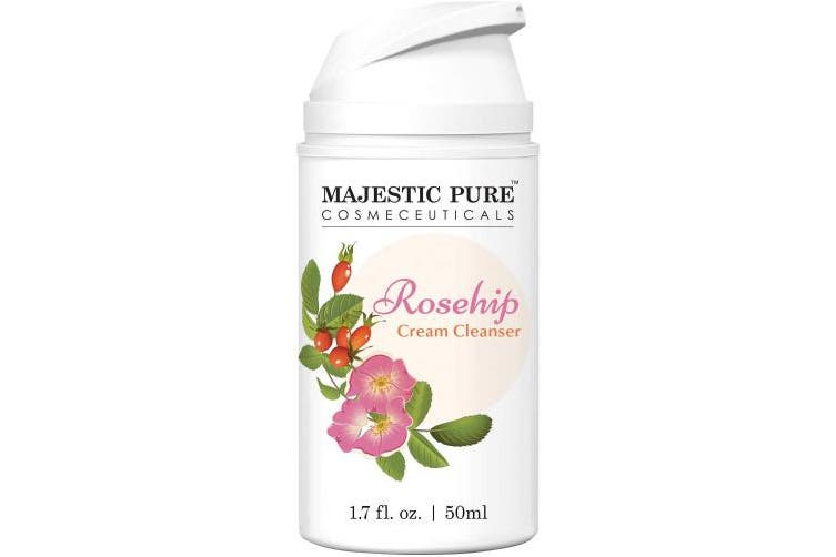 Majestic Pure Rosehip Facial Cleanser - Thoroughly Cleanse while Hydrate with, for Youthful Radiant Looking Skin - 50ml