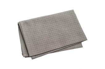 (Grey) - Dunroven House K330-GY Waffle Weave Towel, 50cm x 70cm , Grey