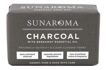 Sunaroma Soap Bar Charcoal With Bergamot Oil 240ml