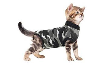 (XXX-Small) - Suitical Cat Recovery Suit - Black Camo