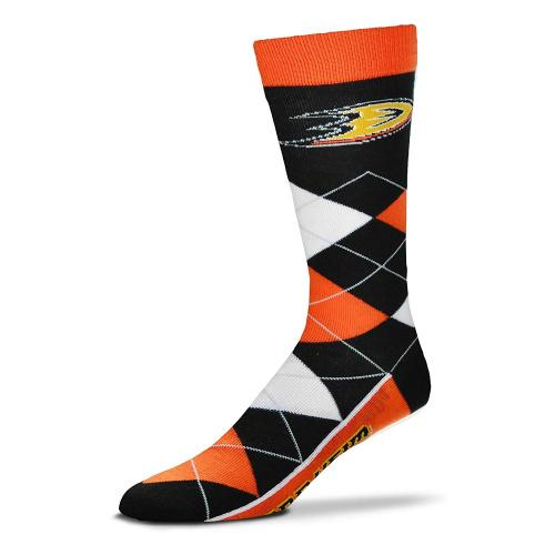 For Bare Feet Mens NHL Argyle Lineup Crew Dress Socks-One Size Fits Most