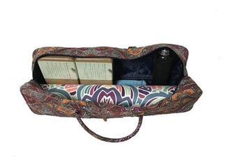 (celestial) - All-in-one Yoga Mat Bag with Pocket and Zipper - Patterned Canvas