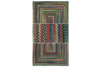 (0.9m x 0.9m Rectangle, green) - High Rock 0103 Braided Round Area Rug -