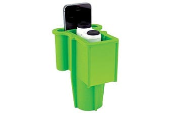 (Light Green) - Range Gripper The for Golfers - an All-in-One Rangefinder/Smartphone Holder- Fits Any Golf Cart Cupholder, Secures & Protects Your Range Finder & Cell Phone - Never Lose Valuables Again