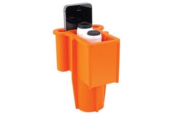 (Orange) - Range Gripper The for Golfers - an All-in-One Rangefinder/Smartphone Holder- Fits Any Golf Cart Cupholder, Secures & Protects Your Range Finder & Cell Phone - Never Lose Valuables Again