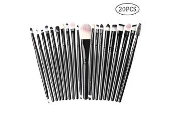 nuosen 20PCS Make Up Eye Brush Set, Eyeshadow Blending Brushes Eyeliner Lip Brush Cosmetic Brushes Kit