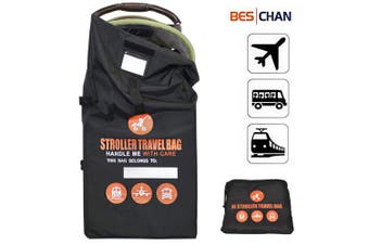 Beschan Standard or Double/Dual Stroller Gate Cheque Bag XL Travel Bag Thicken Strengthen Foldable for Airport, Aeroplane Gate Cheque, Car Trips