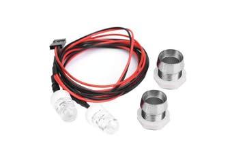 (19#, Red Light) - RC Car LED Lights, 2 Pcs 10mm Headlight LED Lights for RC Model Drift Car Vehicle Accessory(19# -Red Light)